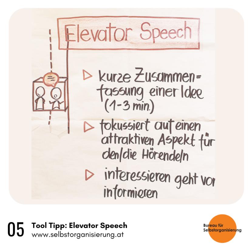 Rainer Hackauf: BfS Tool Tipp – Elevator Speech (Fahrstuhlrede)