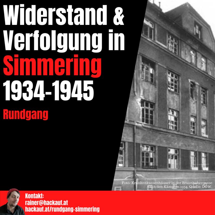 Rainer Hackauf: Widerstand & Verfolgung in Simmering 1934-1945