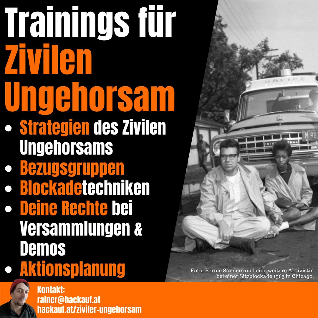 Rainer Hackauf: Trainings für Zivilen Ungehorsam